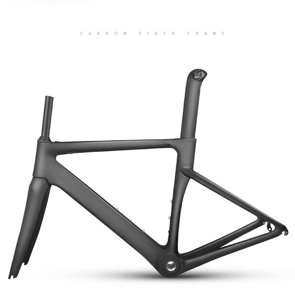Hot sale! carbon fiber road frame cycling race bicycle frameset carbon road frame+fork+seatpost taiwan T800 carbon fiber road bike frame