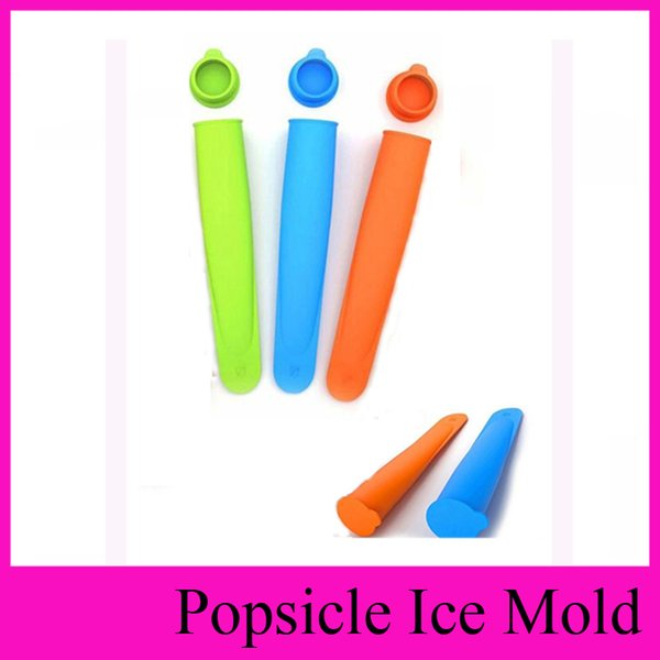 best selling middle Size 15*3.5cm 4 Colors Silicone Popsicle Mold Push Up Homemade DIY Delicuous Ice Cream Jelly Lolly Pop Maker