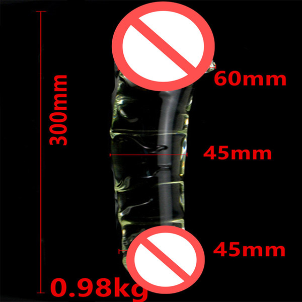 Dia 60 MM Glass Huge Dildos Penis Anal Beads Butt Plug For Female , Erotic Sex Products Adult Toys For Women And Men Gay