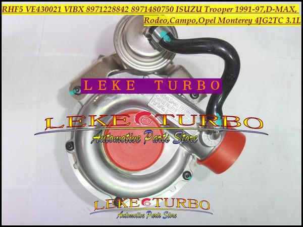 Turbo RHF5 VE430021 VIBX 8971228842 8971480750 Turbocharger For ISUZU Trooper D-MAX Campo For OPEL Monterey 4JG2 4JG2TC 3.1L