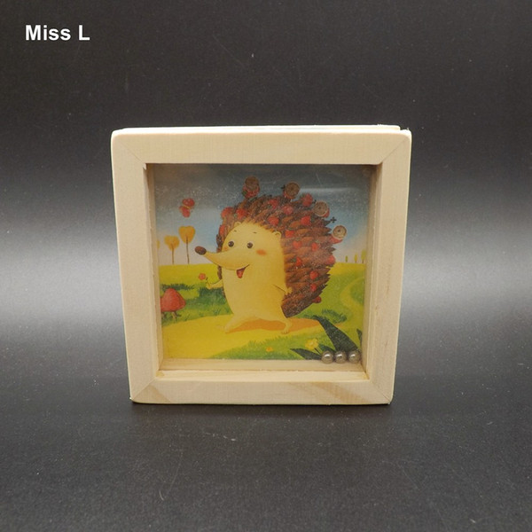 Cute Hedgehog Wooden Toys Montessori Educational Teaching Aids Handheld Maze Ball Balance Games For Parents And Children