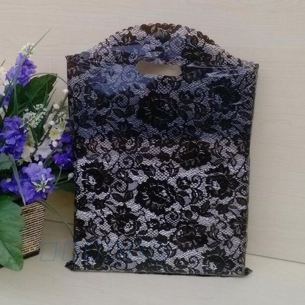 100pcs 25X35cm Lace Plastic Bags Wedding Gift Bag, Jewelry Pouches, Small Clothes bags, wholesale