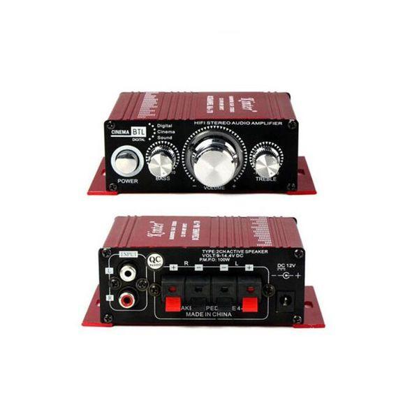 2 CH Amplificatore di potenza per auto Hi-Fi Subwoofer Audio Stereo Mini Power Amplificatore digitale per la casa Auto Car Boat HiFi Sound MA-170