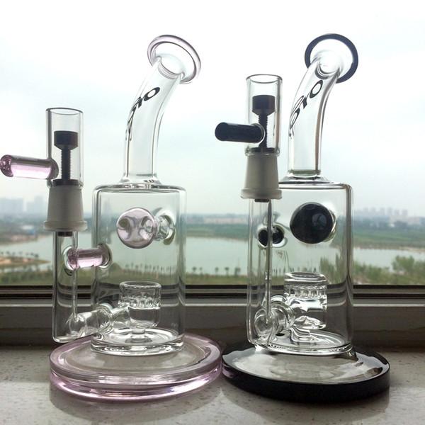 новое прибытие бонги нефтяные вышки больше функции стекло барботер соты perc бонги с титановым гвоздем с керамической ногтей совместное воск банку