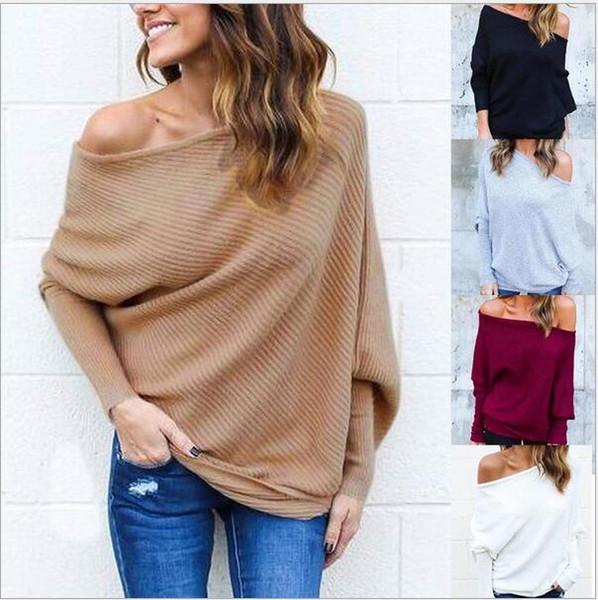 2017 spot winter Neue Damen Sexy trägerlosen kleid mantel pullover fledermaus ärmel großhandel hersteller freies verschiffen