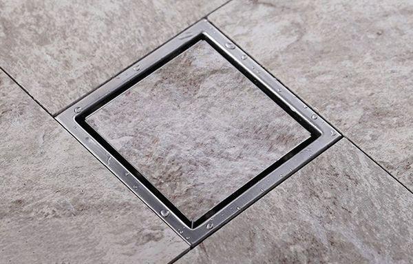 top popular lead free top sale Tile Insert Square Floor Waste Grates Bathroom Shower 150mm X 150mm 304 Stainless steel bathroom Drain DR700 2021