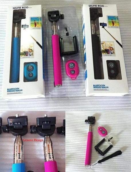 Z07-1 Selfie Einbeinstativ Bluetooth Groove Stick Stativ Remote Kamera Shutter Erweiterbar Handheld Wireless Selbstauslöser Sticks für Handys