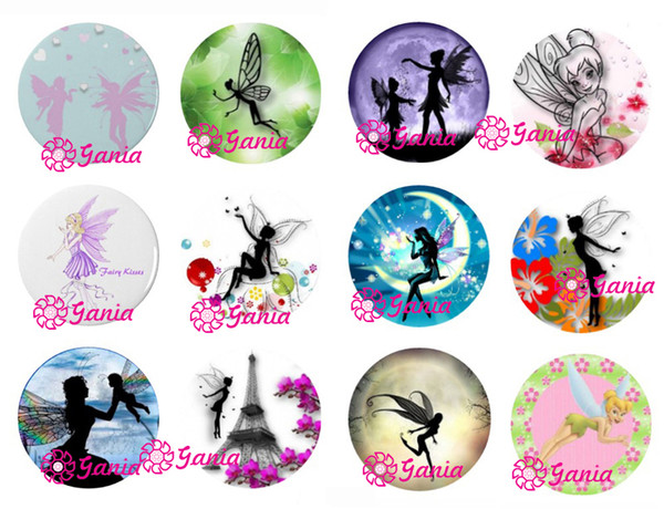 top popular DIY 18mm Cabochon Glass Stone Buttons Inspired Cute Fairy Snaps for 18mm Snap Jewelry Bracelet Necklace Ring Earrings 2021
