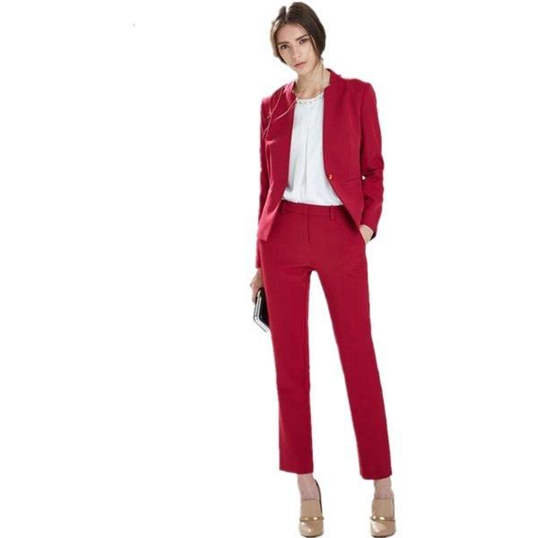 New Autumn Bussiness Formal Elegant Women Suit Set Blazers And Pants Office Suits Ladies Pants Suits Trouser Suits