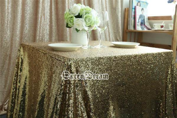 72u0027u0027 Inch Square Black Gold Sequin Tablecloths Or Cheap Sequin Tablecloth  For Coffee Table