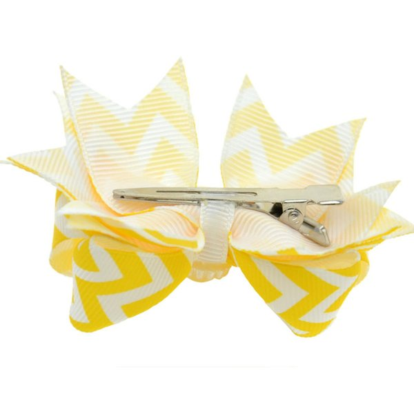 40pcs 3 inch Kawaii Children Hair Clip Kids Bb Pin Baby Girl Character Ribbon Hair Bow Clips Boutique Hair Accessories