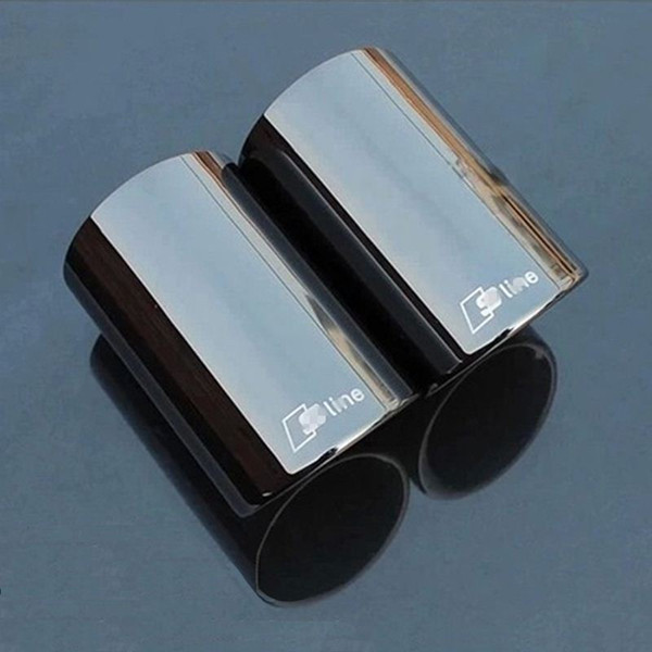 3 colors 2 pieces For Audi Q5 A1 A3 A5 A4 B8 High quality Stainless steel Car exhaust pipe cover muffler tip auto accessories