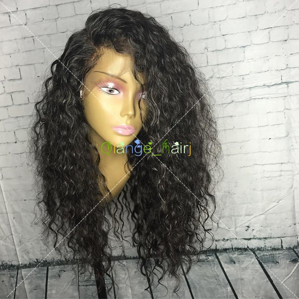 Indian Kinky Curly Hair Full Lace Wigs Human Hair Long Kinky Curly