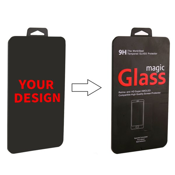 Wholesale Custom Brand Name Steel Packaging Box for 2.5D Tempered Glass for iPhone X 8 8 Plus Retail Universal Iron Box