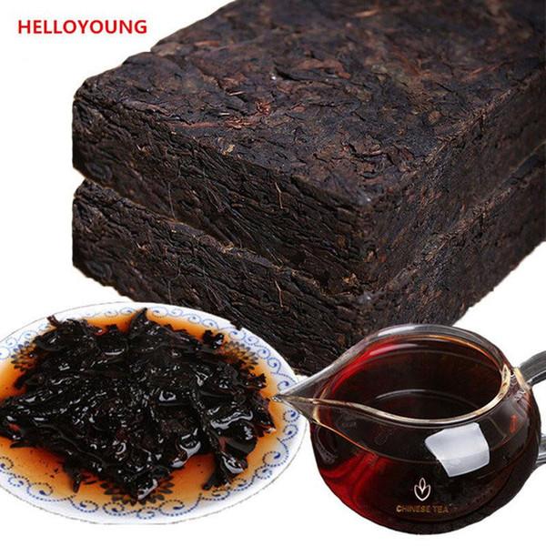 top popular 200g Ripe Pu'er Chinese Puer Brick tea Old Shu Pu-erh Ancient Tree Pu er Black tea cooked Puerh healthy food Green food Pu erh Red tea 2020
