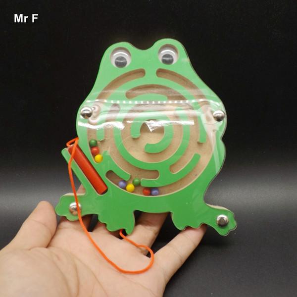 Frosch Mazes Kleine Die Stift Labyrinth Magnetische Holzspielzeug Pädagogisches Familienspiel Kind Geschenk Baby Spielzeug