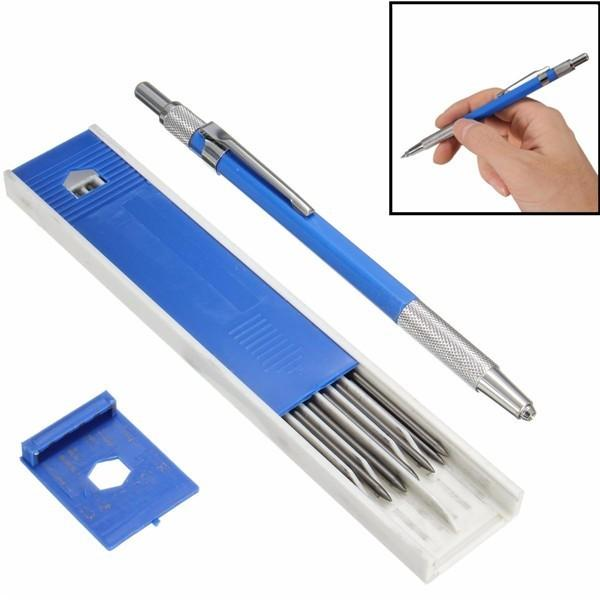2.0 mm 2B Lead Holder Metal Mechanical Drafting Drawing Pencil 12PCs Leads