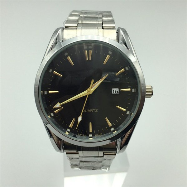 Hot Sale fashion watch bracelet for men Top Brand luxury men watches atmos clock Silver black high quality 3ATM waterproof gift Wrist watch