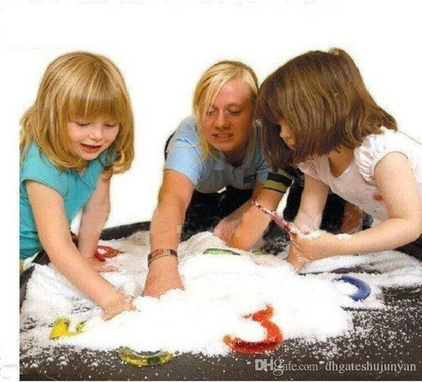 Hot Magic Prop DIY Instant Artificial Snow Powder Simulation Fake Snow for Party Christmas Decoration for children baby gift