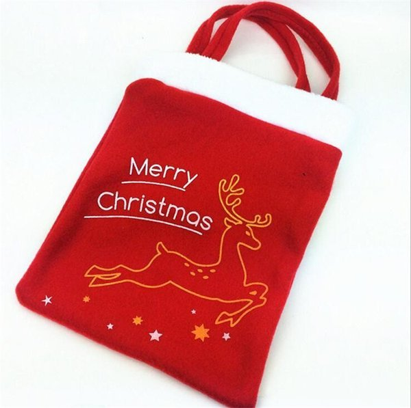 Candy Bag Handbag Party Decoration Christmas Tree Pattern Santa Claus Home Party Decoration Gift Bag Christmas Supplies Favor Free Shipping