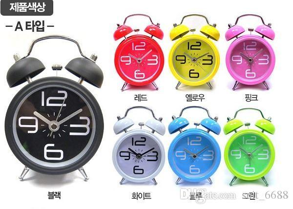 Manually-wound mechanical alarm clocks energetically lazy retro metal mechanical clockwork small alarm clock free shipping