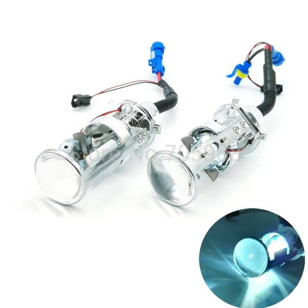 2pc bi xenon lens H4 BiXenon bi-xenon Projector lens car hid projector lens headlight Headlamp for universal car truck H4 Hi low