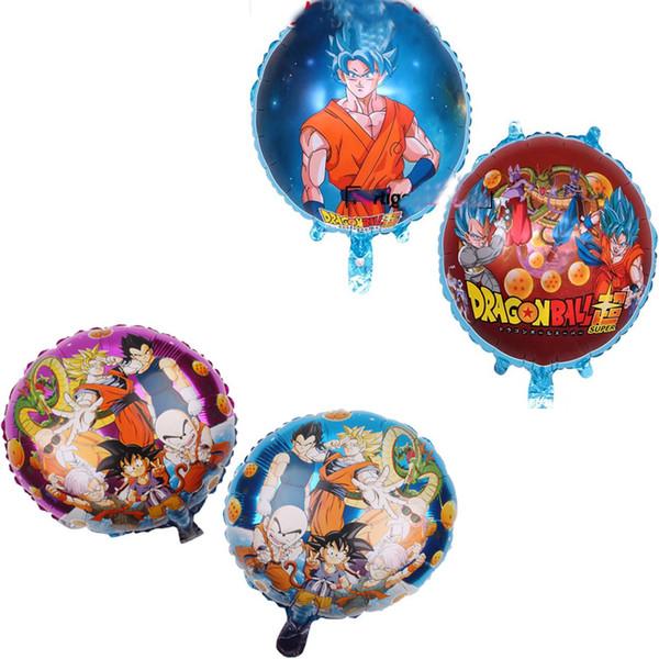 Dragon Ball Globos Folyo Balonlar Çocuk Oyuncakları Hediyeler Parti Malzemeleri Helyum Balonlar doğum günü partisi