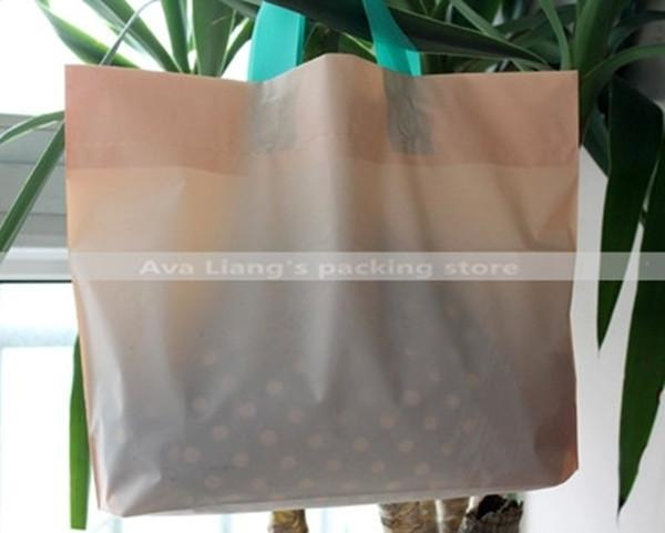 35*25cm light pink blue-green handle 2015new high quality shopping handle bags/ gift carry bags/ plastic handle bags
