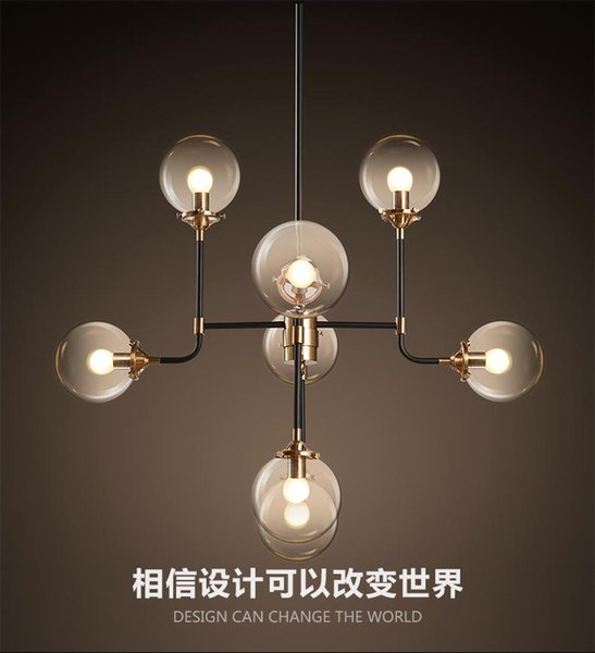 2016 new design north Europe style Modo Magic Bean Pendant Lamps 8 Globes Glass lampshade MODO DNA Pendant Lights for coffee clothing