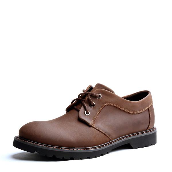 Sapatos Oxford Para Homens Sapatos de Couro Homens Vestido Vintage Brogues Impressão Homens Apartamentos Novo Oxfords de Salto Baixo Sólidos Lace-up Tamanho Grande 38-43