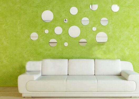32PCS 3d round Wall Stickers Mirrors Self-adhesive Tiles Mirror Wall paper for Wall Declas Poster Wall Decorative