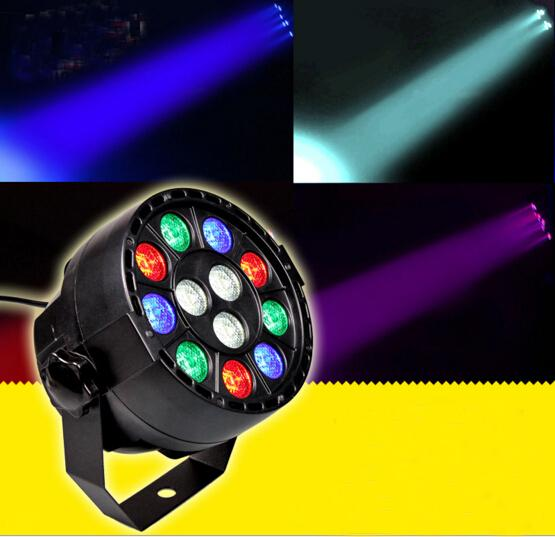 DMX512 12W RGBW LED Stage Effect Par Light by Voice Activated and DMX Control for DJ KTV Bar Disco Projector Lamp Lighting Decoration CE