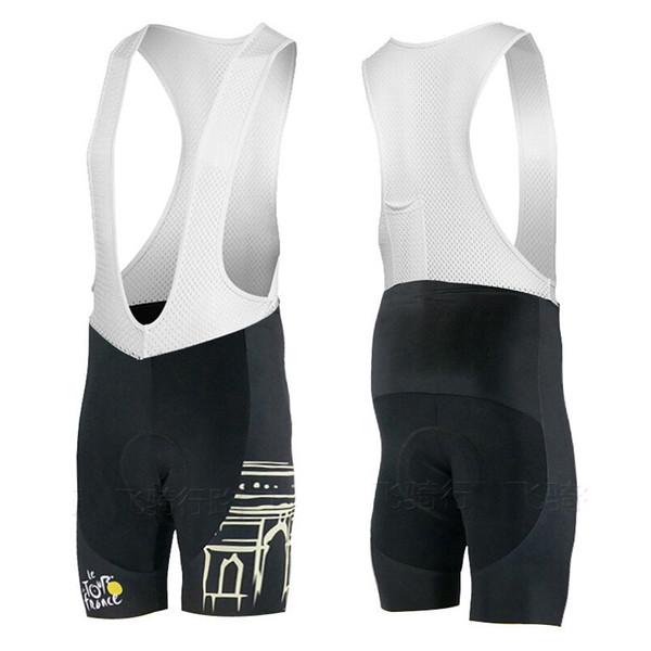 Tour de France 3D Yastıklı Coolmax Jel Nefes Bisiklet Önlüğü Pantolon / Siyah Çabuk Kuru Dağ Sürme Bisiklet Yarışı bisiklet Önlüğü Şort