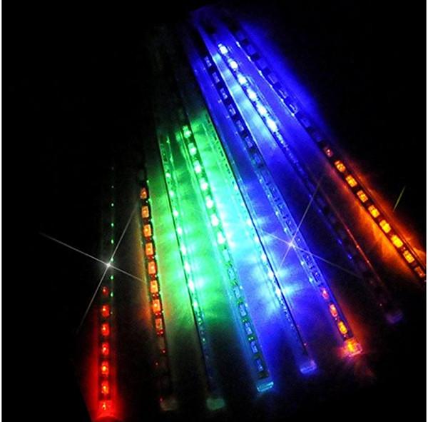 40pcs 30cm 50cm étanche Tubes de pluie de pluie de météores romantiques LED Light pour la décoration de mariage de fête de Noël vacances LED Meteor Light