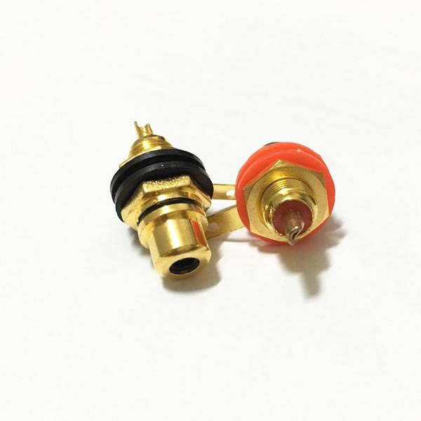 50pcs / lot nouvel or plaqué femelle RCA Phono Jack montage sur panneau amplificateur châssis prise adaptateur connecteur