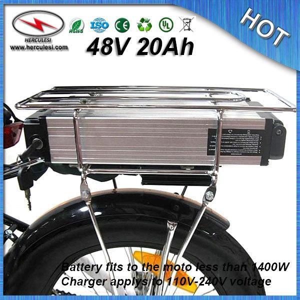 high capacity 1000W Electric Bicycle Battery 48V 20Ah Lithium Battery built in 13S 30A BMS 18650 cell + Charger FREE SHIPPING