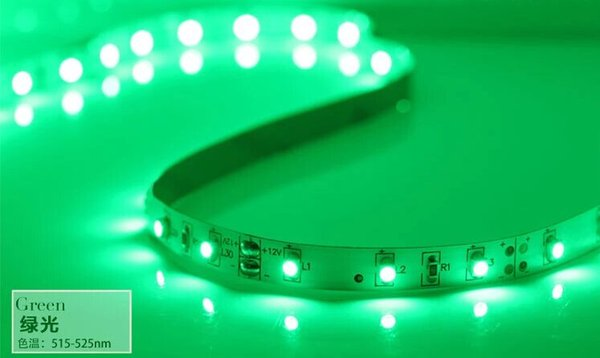 30LEDs / M SMD3528 WW Vert Bleu Jaune LED Lumière de bande flexible 900-1050LM blanc | jaune | noir PCB IP33 65 67 68 5meters étanche