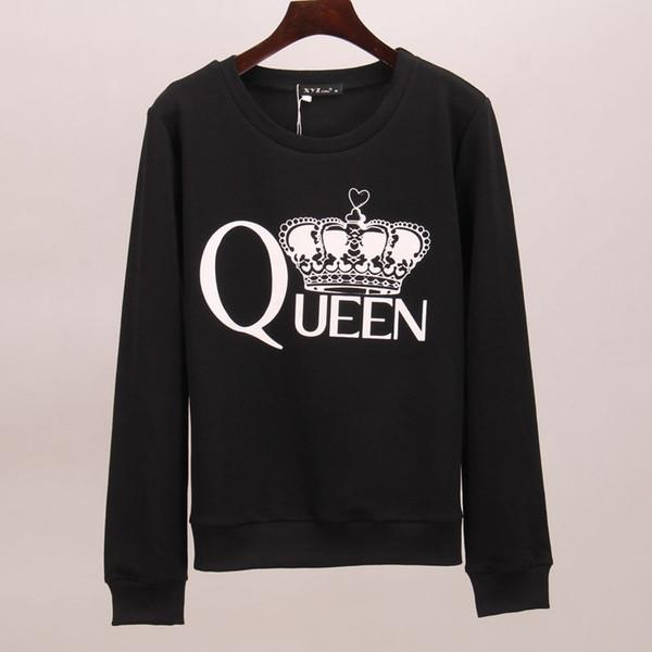 Wholesale- Sakura sweatshirt hoodies women queen crown printed tracksuits long autumn winter tracksuit hoodie tees women woman tops