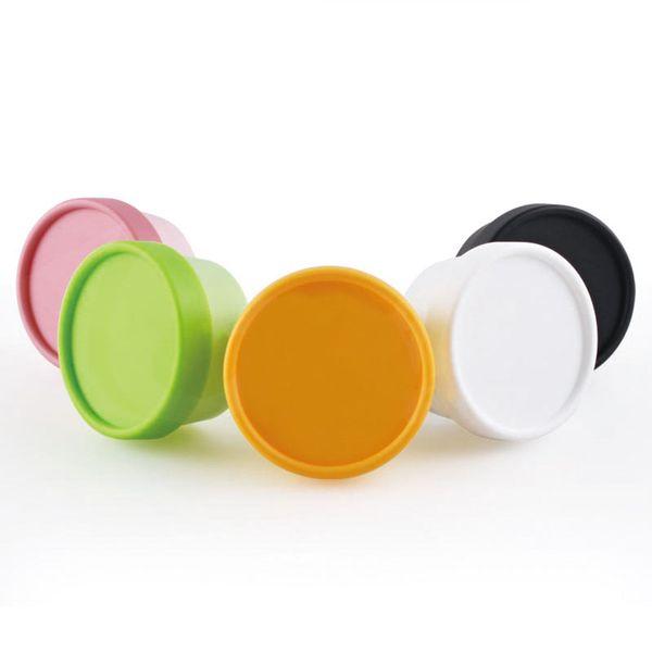 10pcs/lot Green Pink Yellow Grey Plastic Empty Cosmetics Contenitori Cosmetici Jar 100g(ml) For Cream Mask Ointment Storage Box