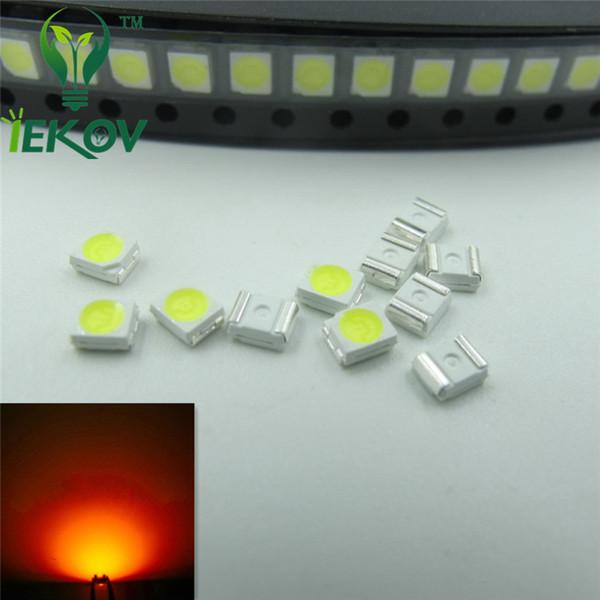 1000pcs 1210 3528 Orange/Amber LED 1.8-2.1V SMD highlight light-emitting diodes High quality 600-610nm SMD/SMT Chip lamp beads