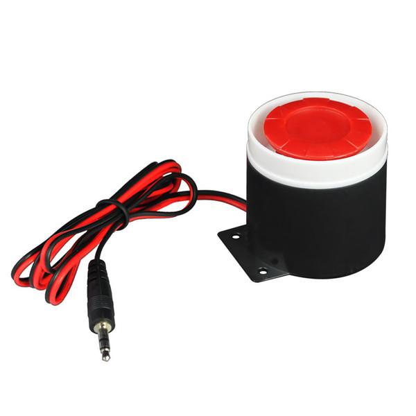 120db Mini Wired Sirene Horn DC 12 V für Wireless Home Alarm Sicherheitssystem Haus Büro Schützen Sensoren Großhandel Zubehör