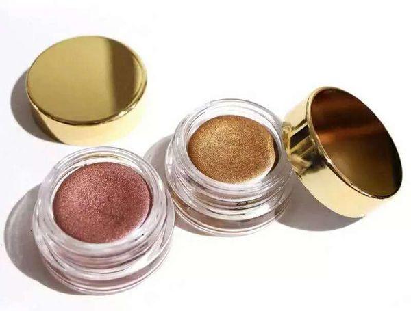 Stock Hot Brand Crema Sombra de ojos Cumpleaños Editon Oro Rosa Cobre Shimmery Pigmentado Sombra de ojos individual Maquillaje Dropshipping E-paquete gratuito