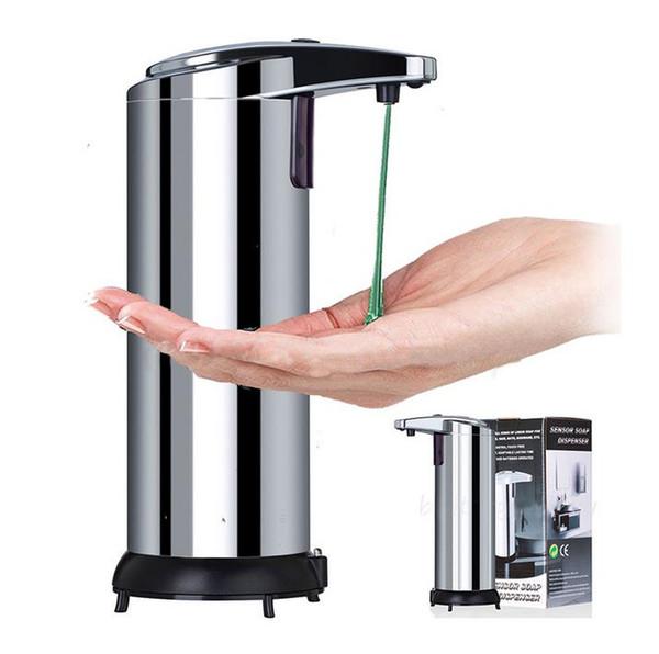 Dispensador de jabón líquido de alta calidad 50pcs Dispensador de jabón líquido automático de manos libres de acero inoxidable