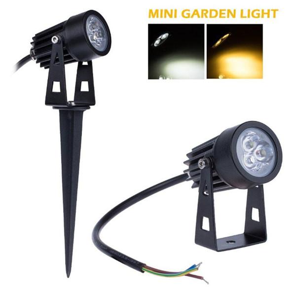 9W Mini LED огни сада ландшафтное освещение Waterpoof наружное освещение светильника DC12V 85-265V белый / теплый белый