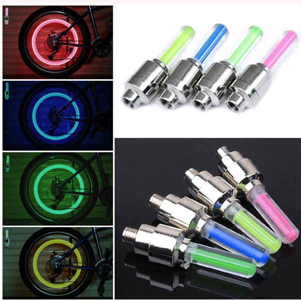 Cool 4 color of choice Bicycle Bike Valve light Bicycle Accessories tyre Caps Wheel spokes LED Light