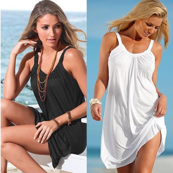 Neue Mode Frauen Casual Spagetti Strap Minikleid Plus Size Casual Strand Sleeveless Kleider Damen Casmisole Sommerkleid