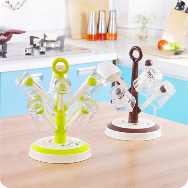 Creative Tree Hanging Cup Rack Drying Wine Tea Coffee Cup Stand Storage Drainer Dryer Dish Drying Rack LZ0399