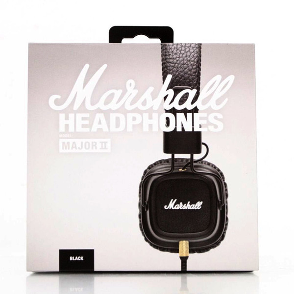 best selling 2019 Marshall Major II 2nd Generation headphones With Mic Noise Cancelling Deep Bass Hi-Fi HiFi Headset Professional DJ Top Quality