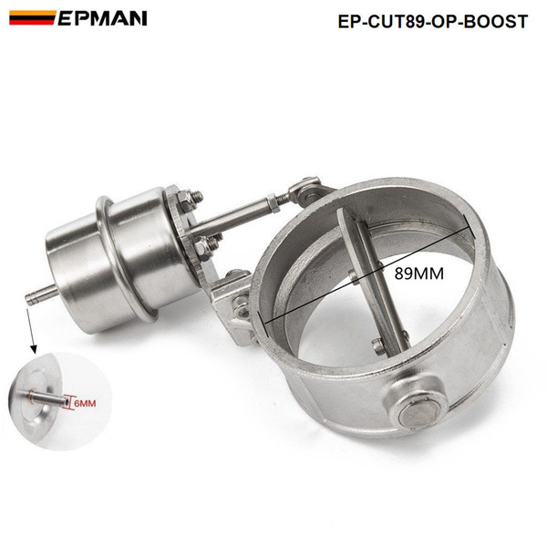 Stainless Steel Exhaust Control Valve Set Boost Actuator OPEN Style 102mm Pipe