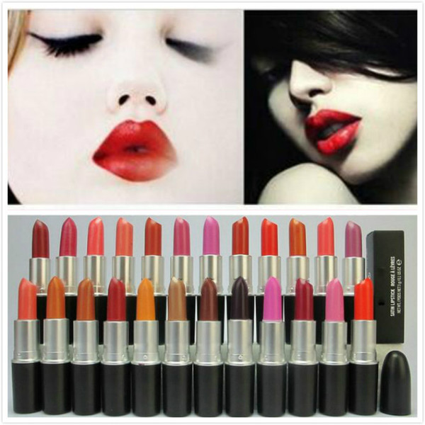 Lipstick Famous Brand 2017 RUBYWOO CANDY YUM YUM Hot M top quality Makeup Luster Lipstick Frost Matte Lipstick 3g 24colors with english name